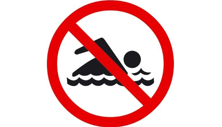 panneau interdiction de nager
