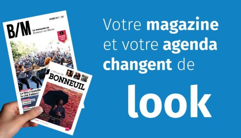 Visuel du nouveau magazine et du nouvel agenda